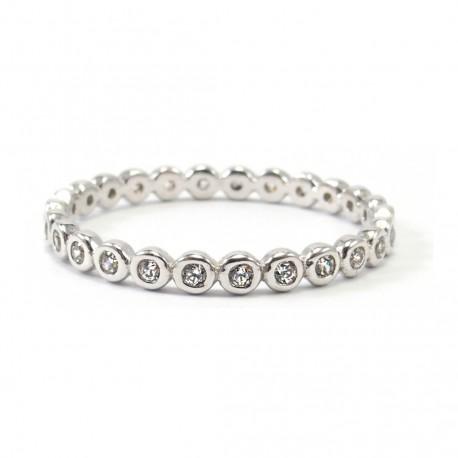 Ring Boccia Bling Silber