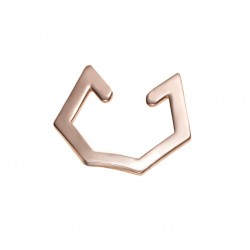 Earcuff Hexagon rosegold
