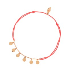 Armband Plättchen Orange